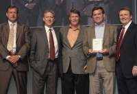 CTS Team receives Mitel Platinum Partner award in San Diego.